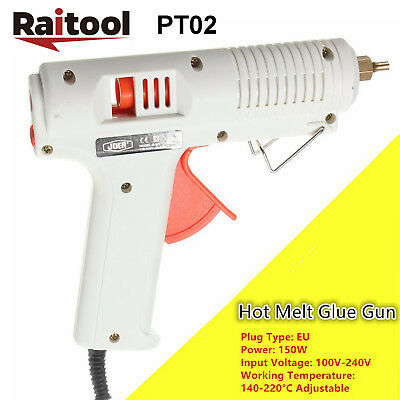 Raitool 150W High Power Adjustable LED Electric Fast Hot Melt Glue Gun Dispenser
