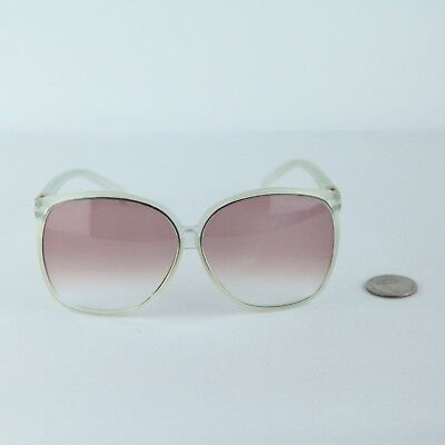 87ce86b43e Vintage Foster Grant 80s oversize fashion glasses sunglasses pink clear  Large