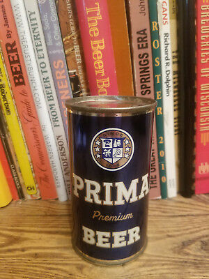 Prima Premium 12oz Flat Top Beer Can   High Grade!  Chicago - WoW!