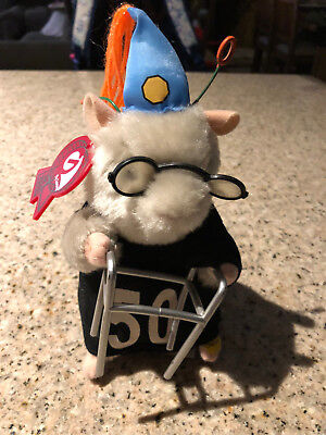 Gemmy Dancing Hamster 50th Birthday Dances To They Say Its Your Birthday W/ Tag