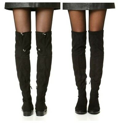 499335eb9d1 WOMENS SAM EDELMAN Over The Knee Boots Paloma Tall Suede Boot OTK Black 5.5   225