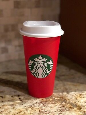 STARBUCKS RED 16 oz. TRAVEL REUSABLE LIMITED EDITION HOLIDAY 2018 CUP BRAND NEW
