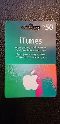 100 CAD (50CAD*2) Canadian iTunes Prepaid Card.  (iTunes Store for Canada)