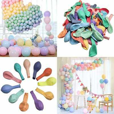 """100Pcs Pastel Latex Balloons 10"""" Assorted Macaron Candy Colored Party For Weddin"""