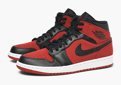 Sale Air Jordan 1 Mid Retro Bred Gym Red Black White 554724 610 Sz 9-15 New I