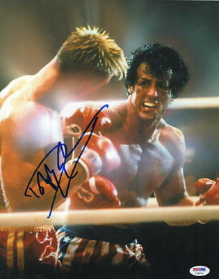 Dolph Lundgren Signed 11X14 Photo Authentic Autograph Rocky Creed Drago Psa B