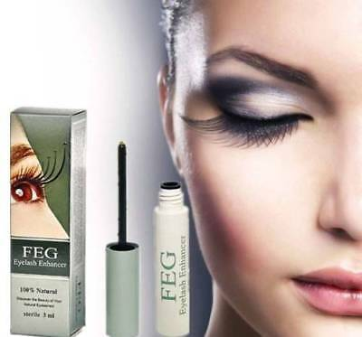 FEG Eyelash Enhancer Eye Lash Rapid Growth Serum Liquid 100% Natural 3ML New