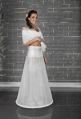 New white 1 Hoop Wedding Dress bridal  petticoat Underskirt Gown Slips Crinoline