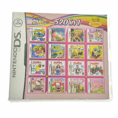 520 in 1 Video Game Multicart For Nintendo NDS NDSL 2DS 3DS NDSI Combo Cartridge