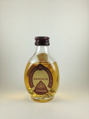 Dimple Fine Old Original Scotch Whisky15 Years Rare Circa Early 1980's Miniature