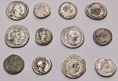 Roman Imperial Silver Coin Collection 12 pcs
