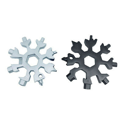 US 18-in-1 Multi-tool Combination Compact Portable Outdoor Snowflake Tool Card
