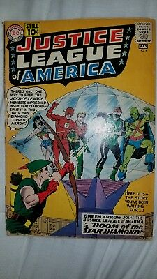 Justice league of america #4- 1961-Green Arrow joins-silver age DC classic!