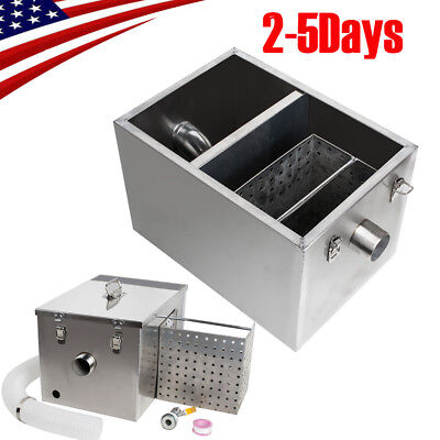 Pro Grease Trap Interceptor Set For Restaurant Kitchen Wastewater Removable