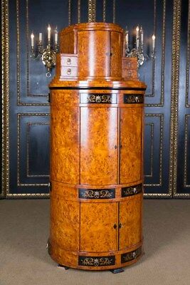 Sensational Viennese Secretary in the Biedermeier Style ahornwurzel Veneer