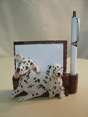 E&S Imports DALMATIAN MAGNETIC NOTE PAD & Pen NEW #46480-47 or DESKTOP