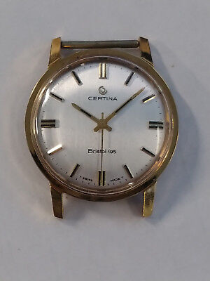 NOS Certina Bristol 195 gold plated case with hands (just needs movement)