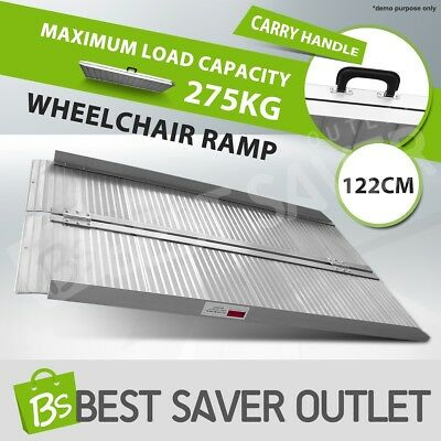 1.2M 257KG Portable Loading Wheelchair Ramp Scooter Folding Van Access Aluminium