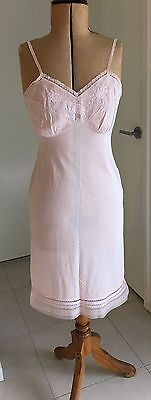 Lovely Woman's Vintage Nightie - Soft Pink - Lace, Ribbons, Floral Details