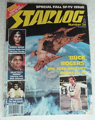 STARLOG #28 - Buck Rogers, Wonder Woman, Lou Ferrigno - November 1979