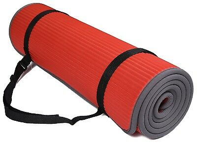 (Red) - BalanceFrom GoFit All-Purpose 10mm Extra Thick High Density Anti-Slip