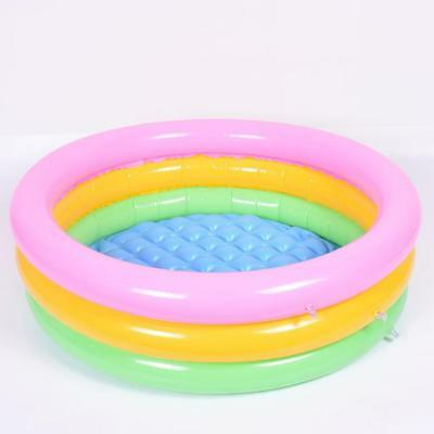 Portable Baby Infant Inflatable Swimming Pool Kids Three-color Three-ring Pool
