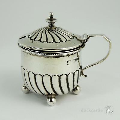 VICTORIAN STERLING SILVER MUSTARD POT London 1890 Horace Woodward & Co