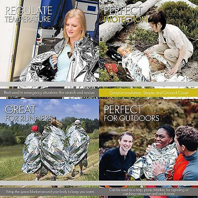 Outdoor Emergency Survival Portable Reusable Foil Camping Sleeping Bag Blanket