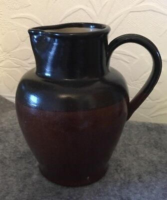 Bourne Denby 2pt Pottery Water Stoneware Jug Marked GPO 1950 18cm Tall