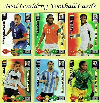 Panini WORLD CUP South Africa 2010 ☆☆☆☆☆ LIMITED EDITION ☆☆☆☆☆ Football Cards