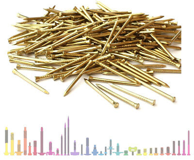 Solid Brass Panel Pins, Picture Tacks, Hardboard Nails 15mm 20mm 25mm 30mm 40mm