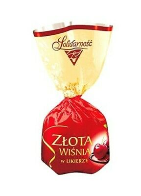 Alcoholized Cherries and Liqueur Filled Chocolates by Solidarnosc, Poland 250g