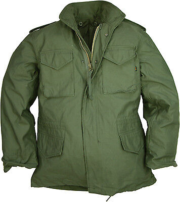 Original ALPHA M65 Field Jacket Olive Green Black
