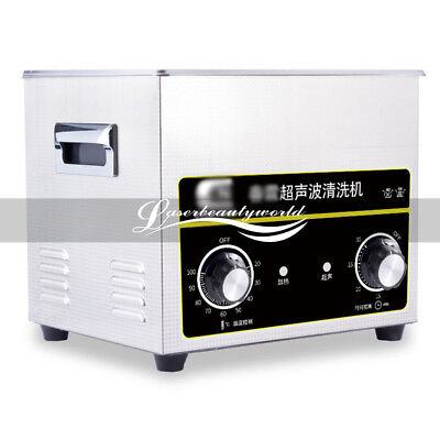 Stainless Steel 4.5L Sonic Ultrasonic Cleaner Heater Necklace Cleaning Machine