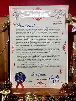 Personalised Invitation to Lapland Reveal Santa Letter Luxury Vellum Handmade