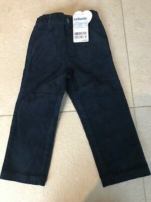 Jojo Maman Bebe Boys Navy Blue Cord Trousers 2-3 Years Brand New with Tags