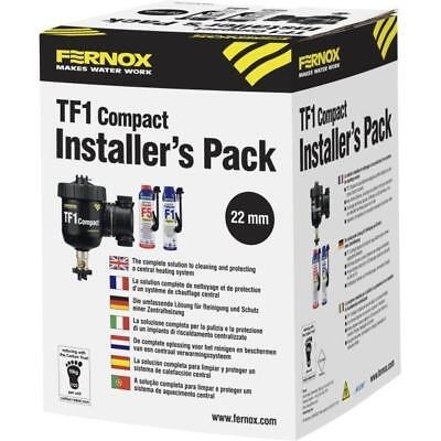 Fernox 62169 TF1 22mm Compact Pack Including F1 & F5 Express for Central Heating