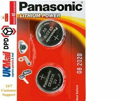 2 Panasonic CR2016 3V Lithium Coin Cell Battery 2016 For Watches Fob Keys Alarm