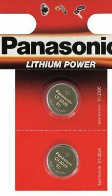 2 Panasonic CR2025 3V Lithium Coin Cell Battery 2025 For Watches Fob Keys Alarm