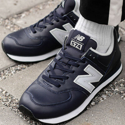 7a2fb84561 NEW BALANCE 574 Sneakers Trainers Shoes Men's Sport Casual Leather Blue  ML574LPN