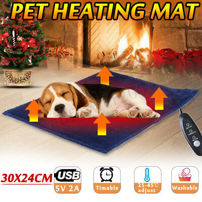 5V USB Electric Clothes Heater Sheet Pet Dog Cat Winter Heating Pad Warmer Mat
