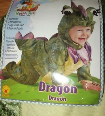 NEW Rubie's Infant Dragon Costume~Size 6-12 Months~Top Pants and Headpiece