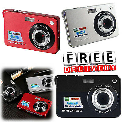 "Mini Digital Camera Zoom 18Mp HD TFT 2.7"" Small Compact Video Photography"