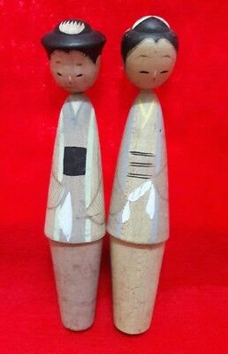 JAPANESE,2x4.5 INCH SMALL WOODEN KOKESHI TYPE DOLL,VINTAGE,OLD,RARE,PRINCESS