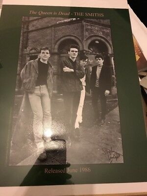 The Smiths The Queen Is Dead Photograph SIGNED by Photographer Stephen Wright