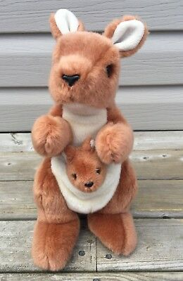 """TY Beanie Babies Buddies Collection Pouch Kangaroo Baby Joey Plush Toy 11"""""""
