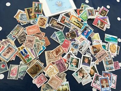 Caribbean assortment of stamps off paper direct from estate untouched much old