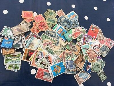 Jamaica caribbean stamps off paper direct from estate untouched