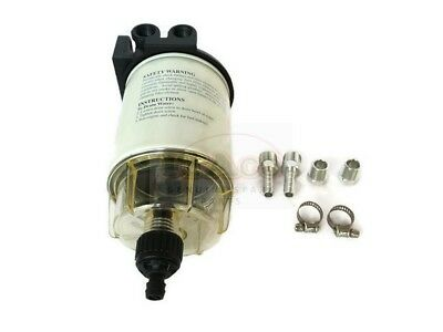 Sierra 18-7932 10 Micron Fuel Water Separator Kit with Aqua Vue Bowl 17475