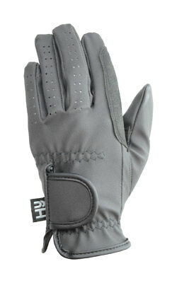 Hy Hy5 Adults Synthetic Leather Padded Grip Riding Glove Black/Brown/White XS-XL
